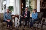 L to R: First Lady Jeannie Ritter (cq), Gov. Bill Ritter (cq) and daughter Tally Ritter (cq) ,15,...