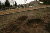 (DLM4465) -  The shallow grave where Linda Damm's body was temporarily buried remained uncovered...
