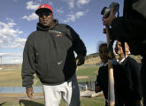 Major League baseball Hall of Famer Tony Gwynn head coach of the San Diego State baseball team...