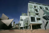 The Denver Art Museum Residences, right, on March 12, 2007, designed by Daniel Libeskind, across...