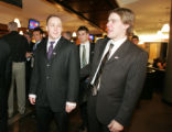 Tyler Arnason and Paul Stastny  (MICHAEL MARTIN/SPECIAL TO THE NEWS) Choppers Dinner, February 21,...