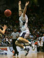 Ralston Valley Mustang Tanner Jones looses control of the ball against the Abraham Lincoln Lancers...
