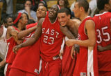 (left to right) Denver East Angels Jermiko Verner, Donnel Wells, Blake Swain, Mookie Gilbert, and...