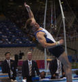(ATHENS, Greece  on Wednesday, Aug. 18, 2004) - American gymnast Paul Hamm stumbles after landing...