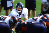 (DOVE VALLEY, Co. - SHOT 8/18/04)   The Denver Broncos' Matt Mauck (#8, QB) calls out a play at...