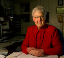 Alice Kitt (cq) in her office, Tuesday morning March 13, 2007 in her home in Arvada. Kitts had a...