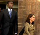 Eagle, Colo.-August 31,2004-  Los Angeles Lakers star Kobe Bryant, leaves the Eagle County Justice...
