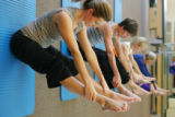 At Pilates Denver, Inc. in Greenwood Village, Britta Bynum, (cq)a Pilates instructor (at Pilates...
