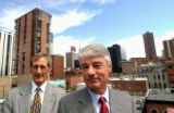 (DENVER, Colo., Aug. 30, 2004) (Lt. To Rt.) Denver Chamber of Commerce Chairman Donald Kortz (cq....