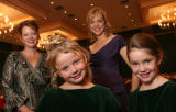 (Denver, Colo., December 1, 2006) Annie (Sugarplum Ball co-chair) and Gracie Cunningham with...