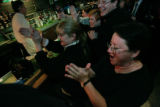 At the bar 10 year patron, Valerie Wainwright (cq) (r front) 7 year patron, Tracey Hart, (cq)...