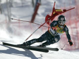 Thomas Lanning, USA skis the downhill portion of the combined  on the Birds of Prey World Cup race...