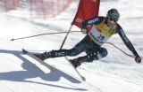 Bodie Miller, USA skis the downhill portion of the combined  on the Birds of Prey World Cup race...
