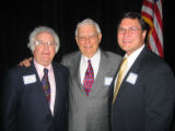 From left, honorary chairman Eddie Robinson, Society of Fellows Donor Luncheon co-chairman Fred...