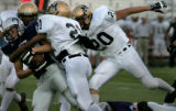 Arvada, Colo. 9/2/04-Prep game between Ralston Valley and Monarch in the first quarter #33Lance...