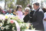 April 4th, 2007. (from right) Aurelia Puga (cq) and her grand daughter, 3 year-old Noelia Puga...
