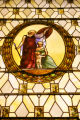 Stained glass inside the Equitable Building at 730 17th St. in downtown Denver on March 26, 2007....