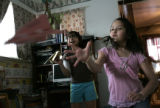 Arianna Pacheco, right, a fifth-grader at  DPS' Brown International Academy in northwest Denver,...