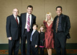 From left, PUSH for the Cure Dinner founder Arthur Seiden, John Lynch,  Seiden's grandchildren...