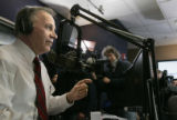 Surrounded by media, Rep. Tom Tancredo announced his candidacy for president on radio show hosted...