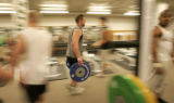 BG0168 Colorado State Rams running back Kyle Bell, CQ, 21, works out with the team during the...