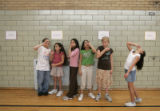 Arianna Pacheco (cq), 10, (far right), a sixth grader at  Brown International Elementary school in...