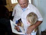 (Denver, Colo., August 20, 2004) Gerald Risner hugs his grandaughter Corri Stauffer, 6, in his...