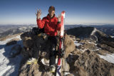 TOP OF LONG'S PEAK   Chris Davenport skiing Colorado 14ers. (NEAL BEIDLEMAN/SPECIAL TO THE NEWS)...