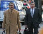 Nacchio's  defense team, Herbert Stern and Jeffery Spizer, left to right, walk to the Alfred A....