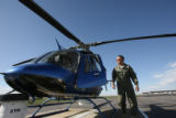 Mike Silva (cq) is a CBS4 helicopter pilot who is taking a leave of absence to voluntarily serve...