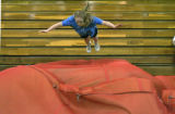 Joy Nameth makes her leap of faith again here at track practise at North Park High School, Walden,...