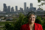 0020 Denver City Council candidate for district 3, JoAnn Phillips, CQ, 58, stands in Barnum Park...