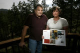 0227 Eric and Karen Marshall, CQ,  parents of April Marshall, a senior at Conifer High School were...