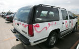 A Chevy Tahoe  is 1 of about 40 vehicles vandalized overnight at the RTD Park and Ride at 40th and...