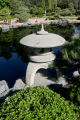 A fountain sits near the pond in the Japanese Garden, Tuesday morning, May 8, 2007, in the Botanic...