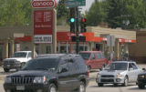 Denver, Colo., photo taken May 18, 2004- The Conoco Station located at the intersection of Bonnie...