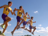 Ft. Collins, Colo., photo taken September 7, 2004- Ft. Collins runners Paul Ringenberg, Michael...