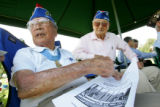 (from left) Congressional Medal of Honor recipient 86 year-old George T. Sakato (cq) fought...