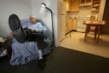 Pete Conde in his home at 2350 Cleveland Place in Apt. #306 in Denver, Colo. on Tuesday May 15,...