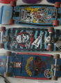 At TS Board Shop -skate and snow - old boards of owner Bryan DeHaven are on display as we look at...