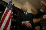U.S. Senator Ken Salazar held a press conference at his local offices in Denver, Colo. at 2300...