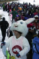 "Reed "" The Spacecraft Bunny"" Silberman (cq) from Boulder waits in the lift line at..."