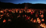 The community of Bailey came together finishing a day celebrating Emily Keyes' life with a...
