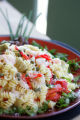 Roger Pierce's Rotini with Shrimp and Mediterranean Vegetables, in Denver, October 4, 2007, which...