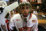 Peter Mannino, DU senior goalie was the Frozen Four MVP here hangin out at Pete's Universty Park...