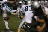 Ralston Valley #1 Matt Spirek losses possession of the ball near the end of 1st half at Shea...
