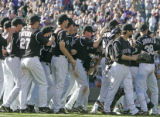 [ES0505] The Colorado Rockies gather on the field after defeating the  Arizona Diamondbacks  4-3...