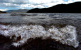 (DILLON Colo., June 27,2004) A wind wave breaks as it approaches the south shore of Dillon...