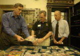 (DENVER, Colo., Aug. 26, 2004)  L to R: Coin experts Douglas Mudd and David Sklow were invited by...