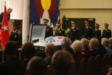 funeral for Brigadier General Felix Sparks (cq) held Tuesday October 2,2007 at the Arvada Center...
